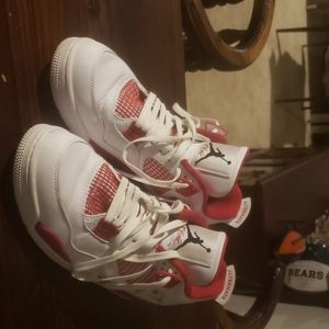 Red and White Jordan 4s
